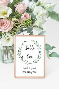 Table-de-mariage-numero-Cartes-A6-personnalise-avec-nom-et-date-Prix-Par-Carte