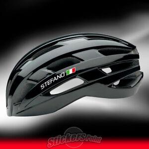 4-adesivi-CASCO-bici-2-NOME-PERSONALIZZATO-2-BANDIERA-ITALIA-stickers-bike