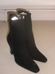 Donna 8 Scarpe pelle Donna in 7 Stivali scamosciata neri Taglia Tacchi wTZntqR6xa