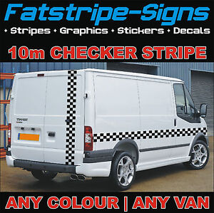 10m-FORD-TRANSIT-CHECKER-STRIPE-VAN-GRAPHICS-STICKERS-DECALS-ST-CONNECT-CUSTOM