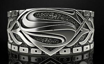 The Superman Men/'s Biker In 925 Sterling Silver Ring