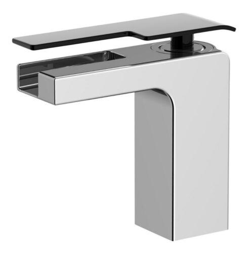 New Embley Contemporary Bathroom Basin Waterfall Mixer Tap Chrome RRP £98 Q4UE#