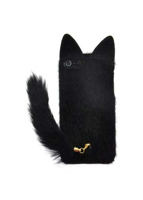 Black Fluffy Cat Tail Cute Kawaii iPhone 6/6S Case Cover