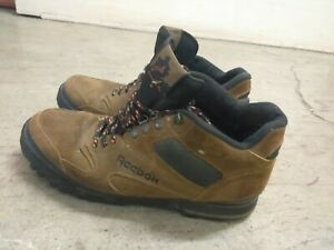 c5a1ae60ea7 Details about Reebok Outdoors Mens Hiking Boots leather Tan Shoes Hikers  Brown Size 13 M