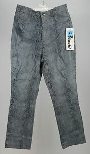 3833da10beda2 Lucid Ltd. Leather Pants Black and Gray Snake Print Size 11. NWT ...