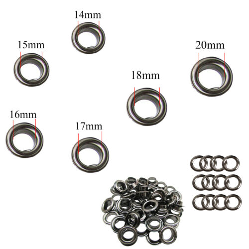20mm Iron Grommet Eyelets with Washers for Banners Making Tents Tarpaulin 14mm