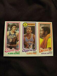 1980 - 81 Topps Alvin Adams rookie card free Dantley #189 basketball NM
