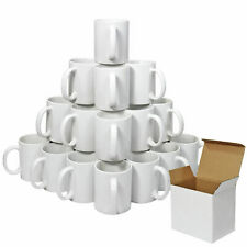 3A Sublimation 72//36 pcs White Mugs 11oz Handle Box double layer coated ORCA