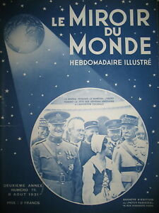 PERSHING-LYAUTEY-SULTAN-MAROC-AVIATION-INTERNATIONALE-LE-MIROIR-DU-MONDE-1931