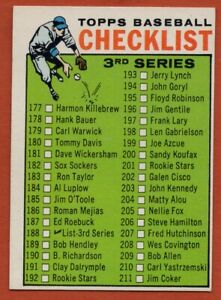 1964-Topps-188-3rd-Series-Checklist-EX-EXMINT-FREE-SHIPPING