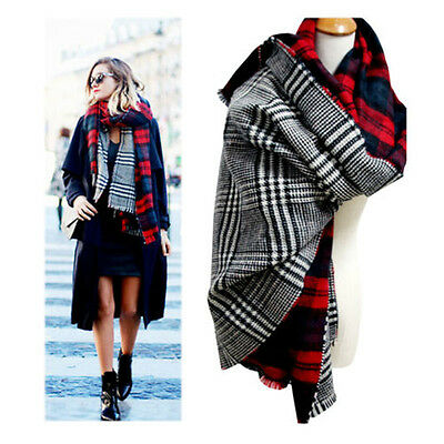 2015 Women Blanket Oversized Tartan Scarf Wrap Shawl Plaid Checked Pashmina