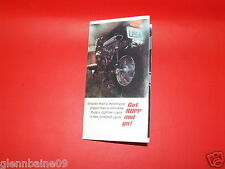 """VINTAGE  RUPP MINIBIKE POINT OF SALE 16 1/2"""" X 6 1/2"""" FOLD OUT  (REPRODUCTION )"""