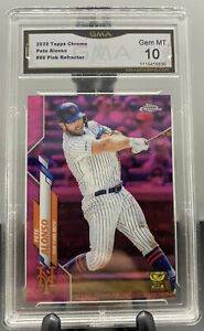 2020 Topps Chrome 80 Pete Alonso Pink Refractor GMA 10 GEM MINT
