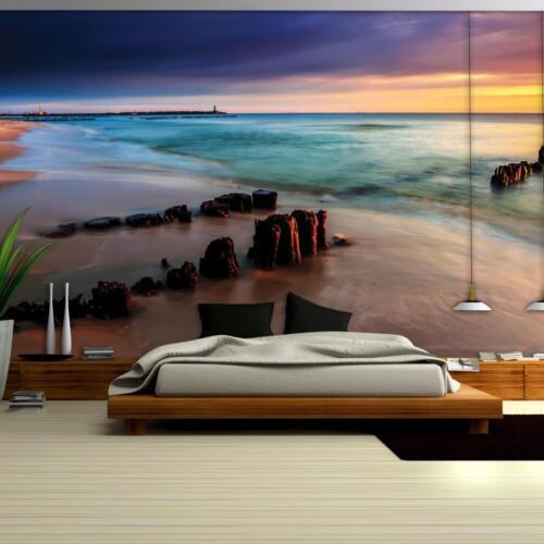 Papier peint papiers peints photos papier peint poster mur ville coucher de soleil eau 14n1027p4