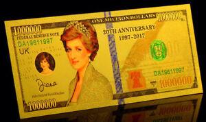 BILLET-POLYMER-034-OR-034-DU-1-000-000-DOLLARS-LADY-DIANA-UK-USA-DESTOCKAGE