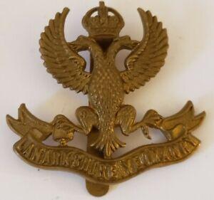 Vintage-WWI-Ingles-Lanarkshire-Yeomanry-Britanico-Escoces-Militar-Hat-Tapa-Chapa
