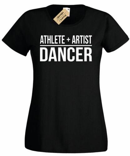 Womens Athlete Artist Dancer T-Shirt ladies dancing top gift