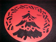 Christmas Tree Stencil Wilton Cake or Decorating Template