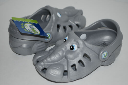 NEW POLLIWALKS ETHAN THE ELEPHANT grey shoes clogs 3D sandals 7 8 9 10 11 12 kid