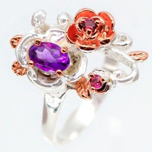 925-Sterling-Silver-Natural-Earthmined-Amethyst-925-Sterling-Silver-Ring-RVS123
