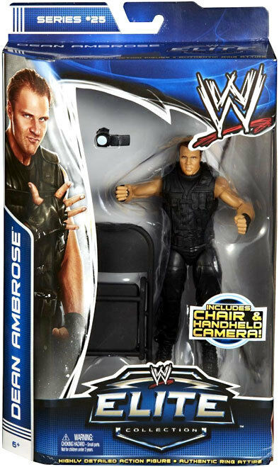 WWE DEAN AMBROSE ELITE 25 WRESTLING FIGURE VIDEO CAMERA CHAIR SHIELD