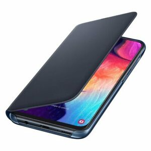 Original-Samsung-Flip-Wallet-Case-Cover-EF-WA505-Galaxy-A50-Schwarz-Black