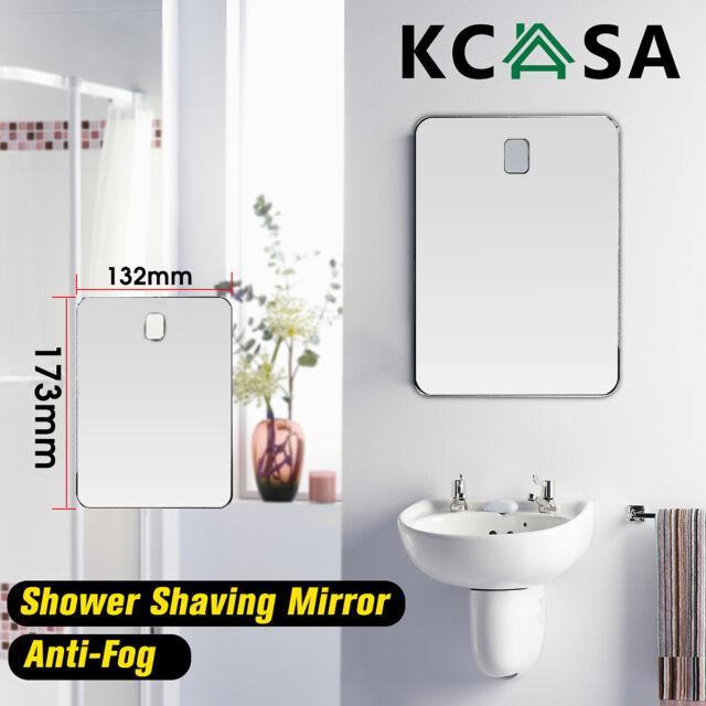 Kcasa Fogless Shaving Shower Mirror Bathroom Anti Fog Wall Suction Mount Hook