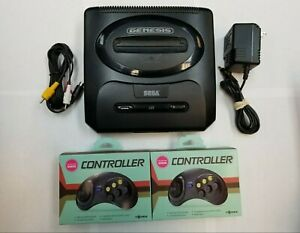 Sega-Genesis-2-Edition-Black-Console-2-Controllers-TESTED-DISCOUNTED