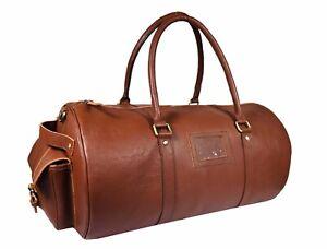 Buffalo-Leather-Duffle-Bag-Travel-Luggage-Carry-on-Handbag-Sports-Gym-Shoulder