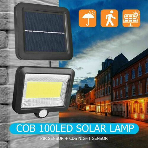 Details about  /LED Outdoor Security Light Waterproof Motion Wall Lamp Solar Powered Lighting