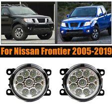 Pair Of Led Bumper Lamp Fog Light For Nissan Frontier 2005 2019 Pc Clear Lens