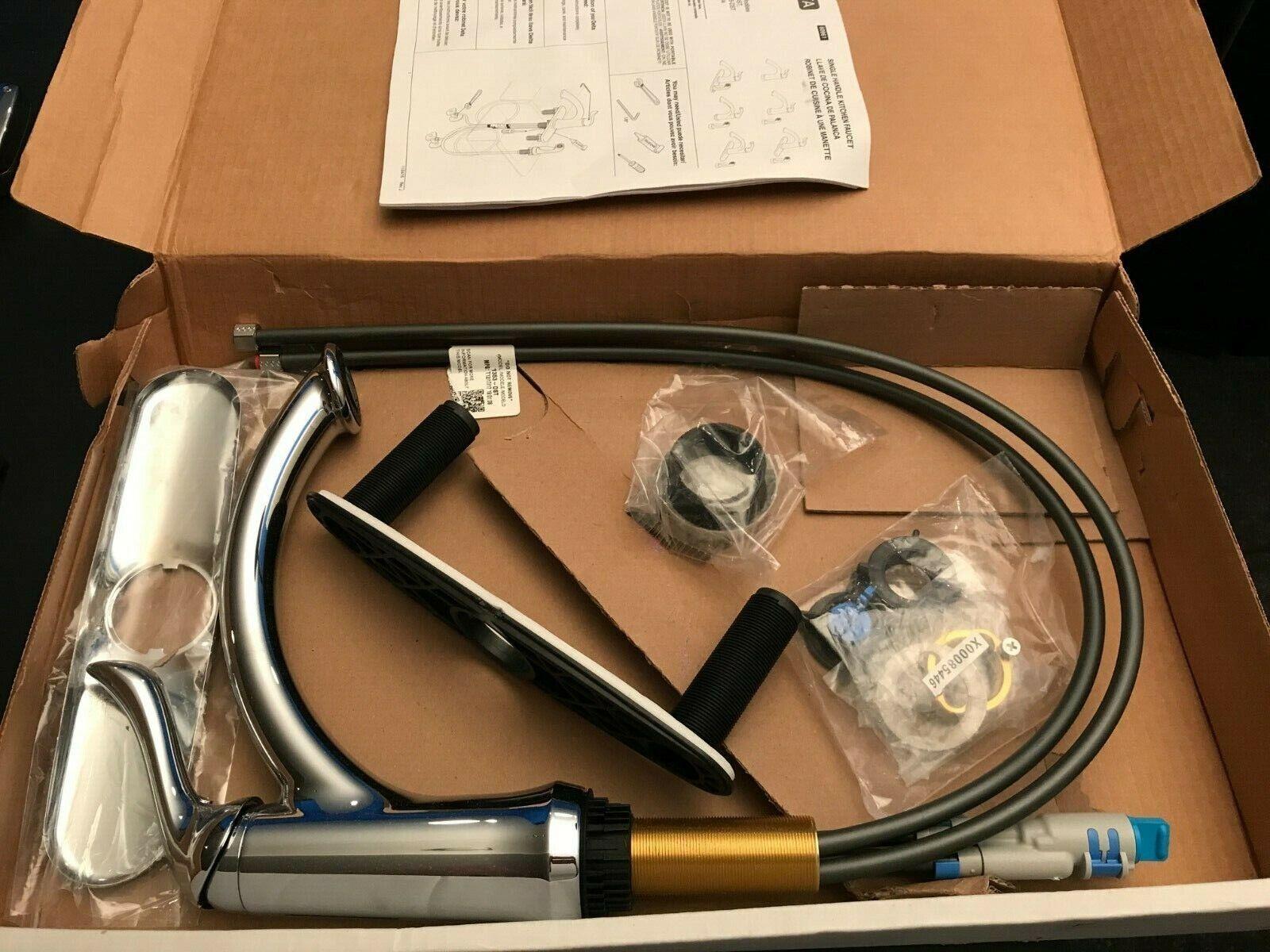 Delta 1353-dst linden single handle kitchen faucet chrome