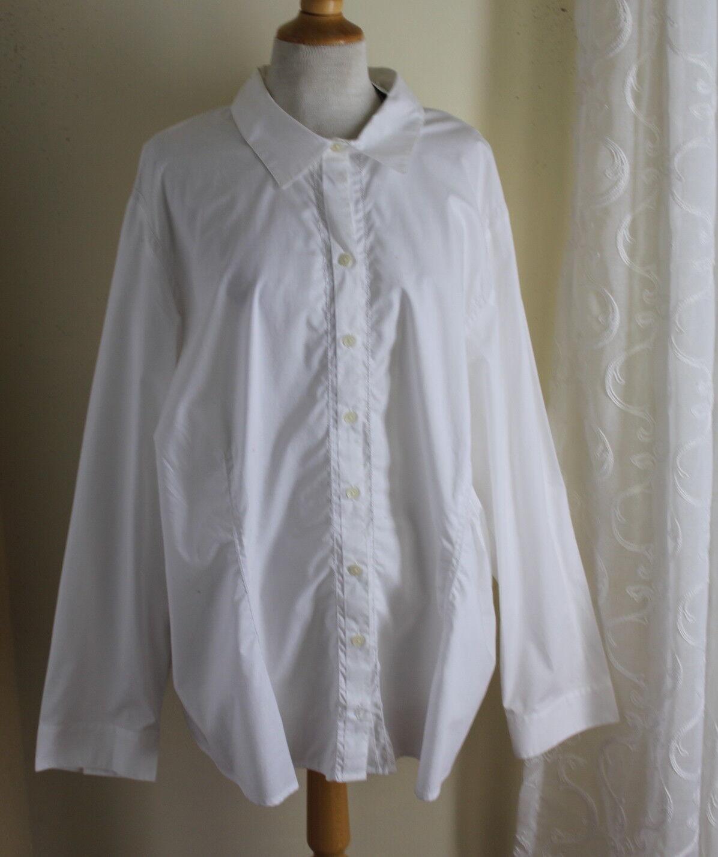 NWT J.Jill Weiß Crisp Cotton Button Down Classic Elegant Shirt Top -Sz 4X -