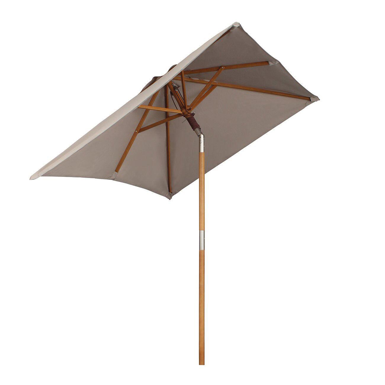2 x 1,5m OMBRELLONE LEGNO PROTEZIONE SOLARE mercato ombrello paese CASA GIARDINO OMBRELLONE OMBRELLO