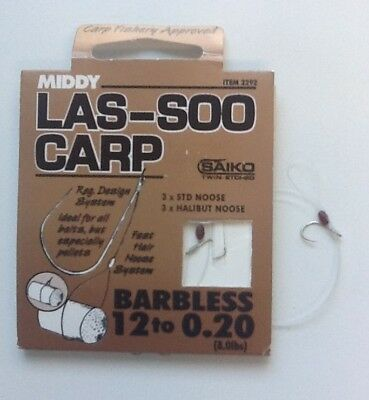 Middy Las-Soo Method Barbless Hair Rigs *Various Sizes*