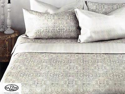 Fazzini Set Bett Maxi Ravenna Blätter In Rein Baumwolle Kleines Doppeltes Mit Den Modernsten GeräTen Und Techniken