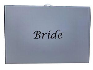 Wedding Dress Storage Box Plain Or Bride In 5 Colour Choices Acid
