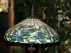 Details About Paul Sahlin Tiffany Style Stained Glass Table Lamp