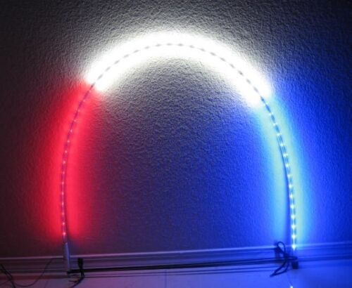 Red 2Pcs 5 Feet Quick Release ATV UTV LED Light Whip with Flag
