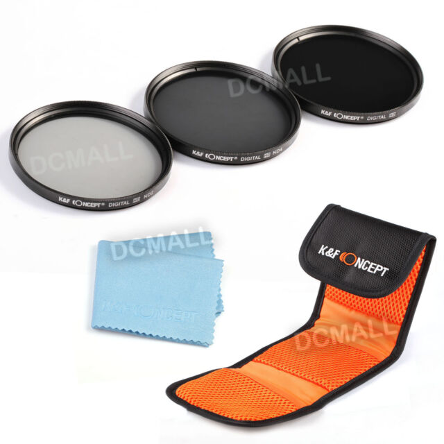 67mm ND2 ND4 ND8 Neutral Density Lens Filter Kit For Canon EOS 1200D 100D 18-135