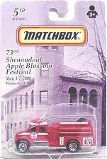 73rd Shenandoah Apple Blossom Festival International Fire Truck by Matchbox