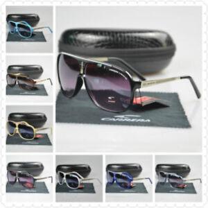 3d638d04f948 Image is loading New-Men-Womens-Retro-Sunglasses-Square-Black-Matte-