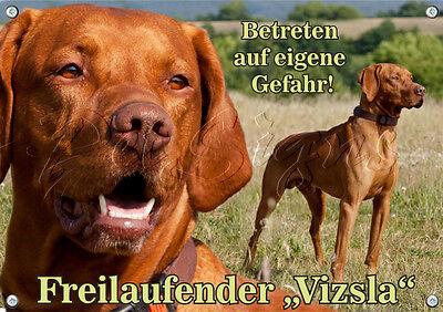Besorgt Hundeschild Hund - Magyar Vizsla - Metallschild