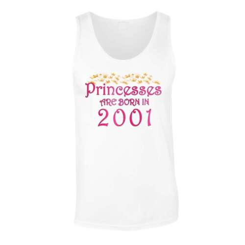 Princesses are born in 2001 Men/'s T-Shirt//Tank Top y84m