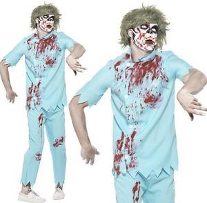 Halloween-hombre-Zombie-Dentista-Disfraz-amp-Mascara-de-Smiffys-NUEVO