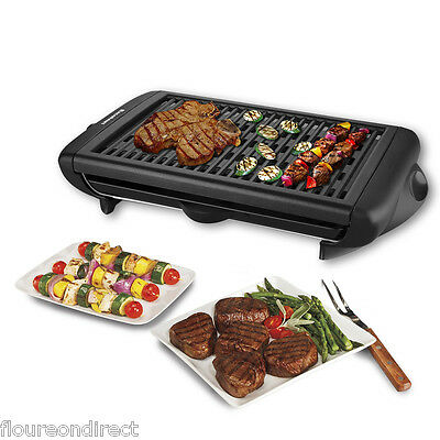 Electric BBQ Barbecue Party Grill Portable Table Indoor Cooking Tray Oven 1400W