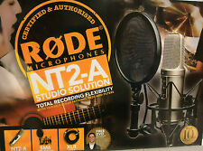 RODE NT2-A MIC NT2A Vocal Condenser Microphone Package NT2 A - In Original Box