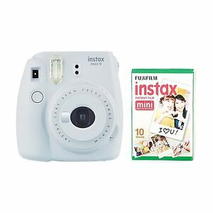 FUJIFILM-INSTAX-MINI-9-instantanee-Camera-with-10-photos-Smoky-Blanc