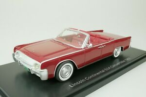 LINCOLN CONTINENTAL 53A CONVERTIBLE CABRIOLET 1961 ROT 1/43 NEO 47050 NEU