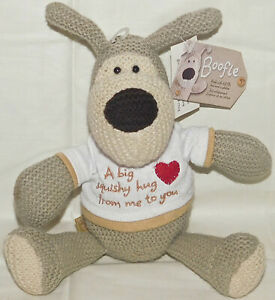 American-Greetings-Boofle-Dog-Sweater-Knit-Tan-Hug-Shirt-Plush-Valentines-Day